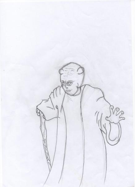 drawing of Zen B